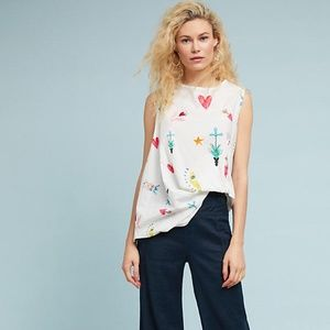 Anthro Doodles Swing Top Cotton Swing silhouette